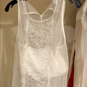 White express lace cover up blouse.